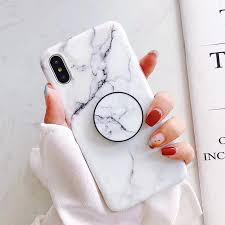Marble + PopSocket iPhone Case – Mermaid Case