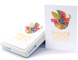 Amazon.com: Hallmark UNICEF Boxed Christmas Cards, Peace On Earth Dove (12  Cards and 13 Envelopes): Office Products