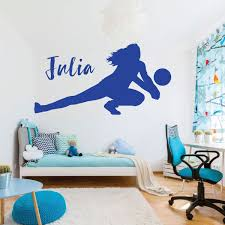Amazon Com Volleyball Wall Decal Personalized Vinyl Decor For Girl S Bedroom Or Playroom Sports Decorations Handmade