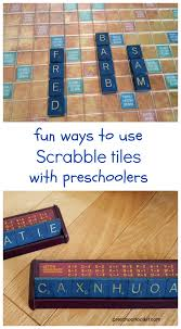 scrabble tiles for early literacy games
