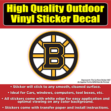 Boston Bruins Hockey Vinyl Car Window Laptop Bumper Sticker Decal Colorado Sticker
