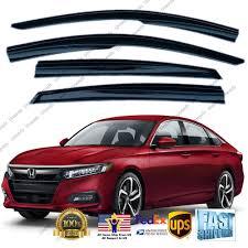 Fits 2018 2020 Honda Accord Jdm Mugen Style Smoke Window Visor Rain Guard Walmart Com Walmart Com