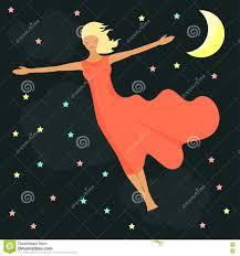 Stelle, Luna E Ragazza In Un Sogno Scheda Di Buona Notte Illustrazione  Vettoriale - Illustrazione di emozioni, presupposto: 73736595