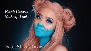 blank canvas face painting makeup
