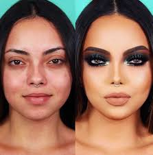 women before and after makeup