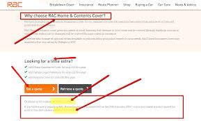 rac customer service contact number breakdown