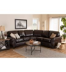 contemporary dark brown faux leather