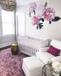 Soft Pink Garden Flowers Kid Room Decor Baby Girl Room Girl Room
