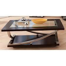 modern glass coffee table melrose