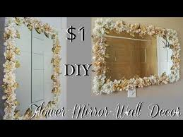 diy dollar tree flower mirror wall