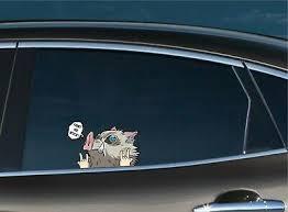 Automotive Naruto Happy Peeker Peeking Window Vinyl Decal Anime Sticker Ninja Manga Graphics Decals