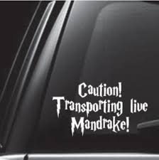 Amazon Com Egeek Amz Caution Transporting Live Mandrake Car Decal Vinyl Decal Sticker Skin Print For Macbook Laptop Automotive