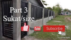 Part 3 Total Cost At Sukat Ng Bakod Fence Youtube