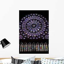 Amazon Com Wallmonkeys Stained Glass Window Wall Decal Peel And Stick Graphic Wm260301 36 In H X 25 In W Home Kitchen