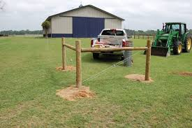 Installing Fence Posts And Keeping Them Secure Fence Post Installation Farm Fence Backyard Fences