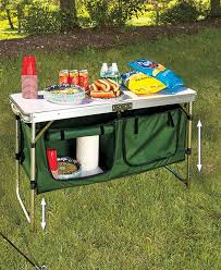 portable camping kitchen table with