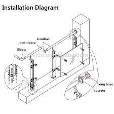 balcony glass railing hardware
