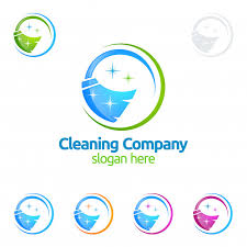 cleaning logo free vectors stock