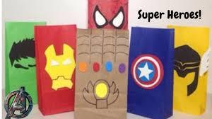 Bolsas De Dulces Fiesta De Superheroes Avengers Youtube
