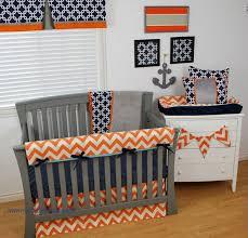 navy and orange nautical nursery