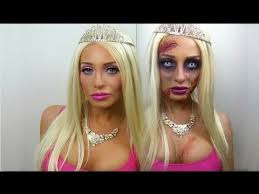 dead barbie zombie halloween tutorial