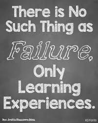 life quotes inspiration failure is just a learning experience