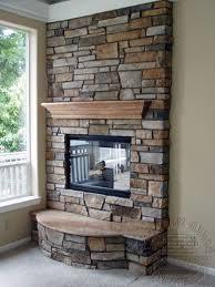 design cultured stone fireplace