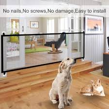 28 3 H Folding Mesh Magic Gate For Dogs Indoor And Outdoor Walmart Com Walmart Com