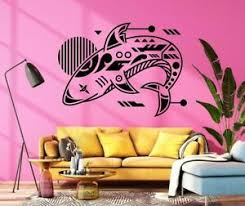 Shark Decal Jaws Decal Ocean Decal Wall Vinyl Decal Sticker Decor Art Tk3426 Ebay