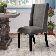 Andover Mills Galewood Wood Leg Upholstered Dining Chair Reviews Wayfair