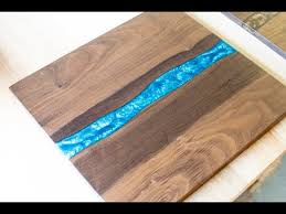 walnut cutting boards with resin