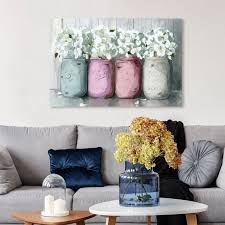 Shop Wynwood Studio Mason Jar Soft Floral And Botanical Wall Art Canvas Print Florals Pink White Overstock 31586546