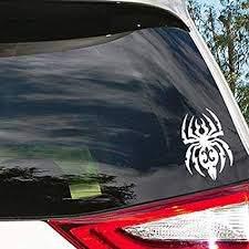 Amazon Com Spider Black Widow Tribal Vinyl Sticker Black Car Bumper Window Sticker 5 X 3 Automotive