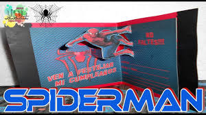Como Hacer Una Invitacion De Spiderman Hombre Arana Youtube