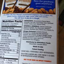 silk pure almond almondmilk