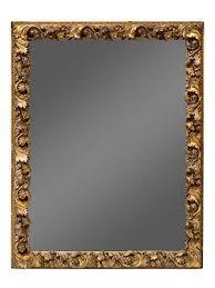 a gilt gesso acanthus framed mirror