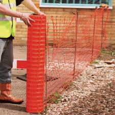 Temporary Fencing Orange Barrier Fencing 1m X 50m