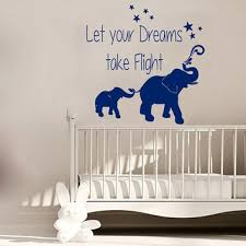 Elephant Wall Decal Quote Let Your Dreams From Amazingdecalsart
