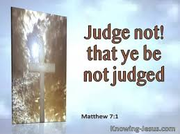 bible verses about not judging
