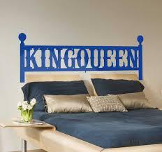 King Queen Headboard Decal Tenstickers