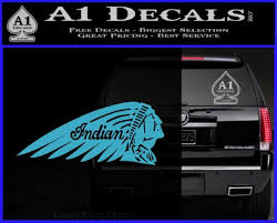 Indian Motorcycles Decal Sticker Headdress A1 Decals