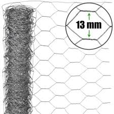13mm Standard Chicken Wire Netting H60cm X L50m 22g Wire Fence