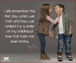 i still remember the first day when we met and how we smiled it
