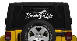 Amazon Com Baseball Life Window Decal Graphic Sticker Deco Car Suv Van Laptop Ipad Handmade