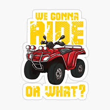 Four Wheeler Stickers Redbubble