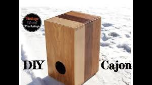 building a hardwood cajon box drum with