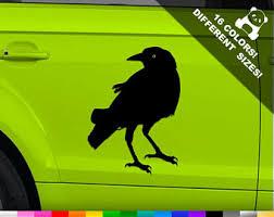 Raven Car Decal Etsy