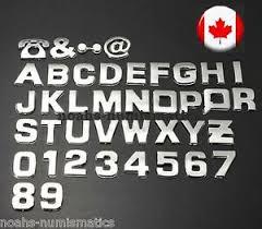 3d Chrome Letters Numbers Automotive Stickers Plastic Decals Crafts Symbols Ebay