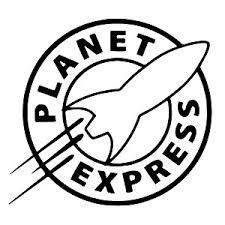 Bargainmax Futurama Planet Express Sticker Decal Notebook Car Laptop 6 Black