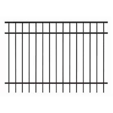 Ironcraft Berkshire Berkshire 4 Ft H X 6 Ft W Black Aluminum Flat Top Yard In The Metal Fence Panels Department At Lowes Com